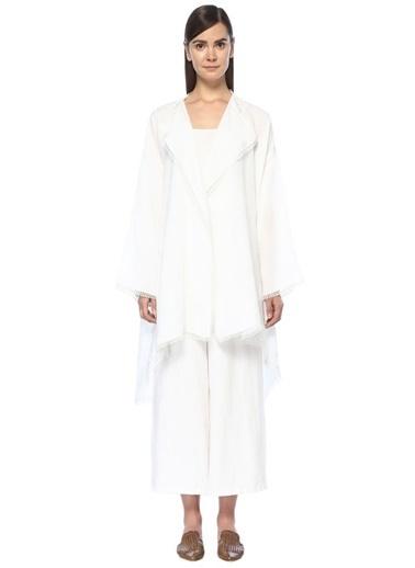 Beymen Collection Pelerin Beyaz